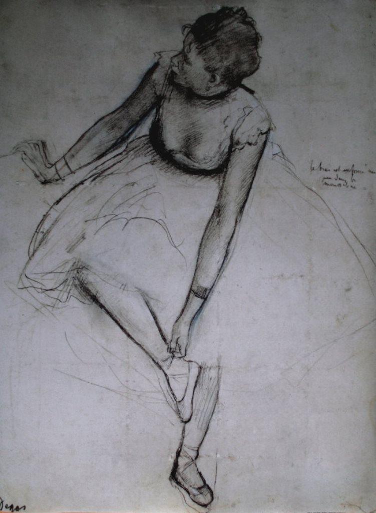 Edgar Degas. Danseuse assise