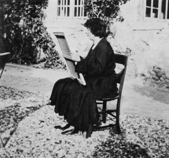 Kiki de Montparnase peignant 1926