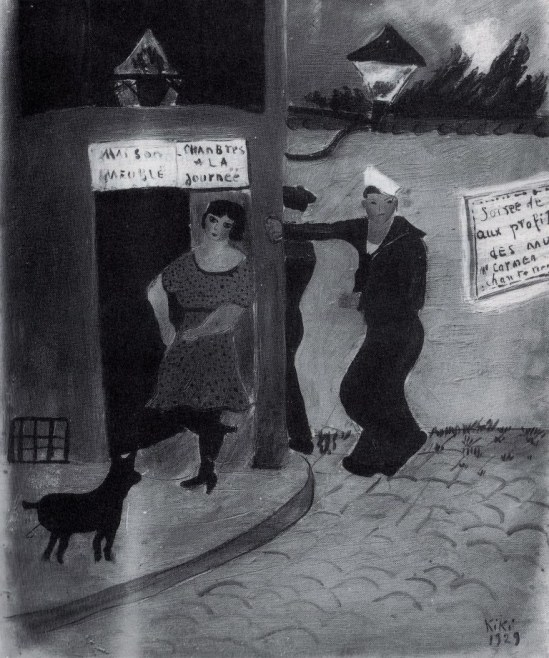Kiki. Une prostituée et des marins devant un meublé 1929. Peinture.jpg 001