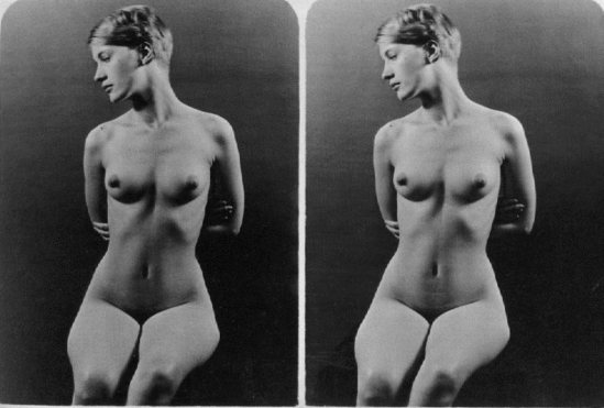 Lee Miller Nude study, 1 july 1928 by her father Theodore Miller, Kingwood  Park, Poughkeepsie, New York . Via theredlist