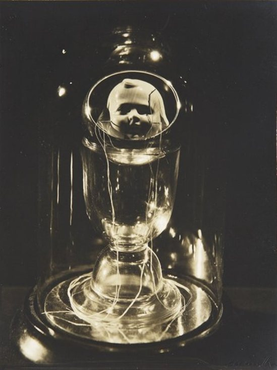 Lee Miller. Object by Joseph Cornell 1933. Via liveauctionners
