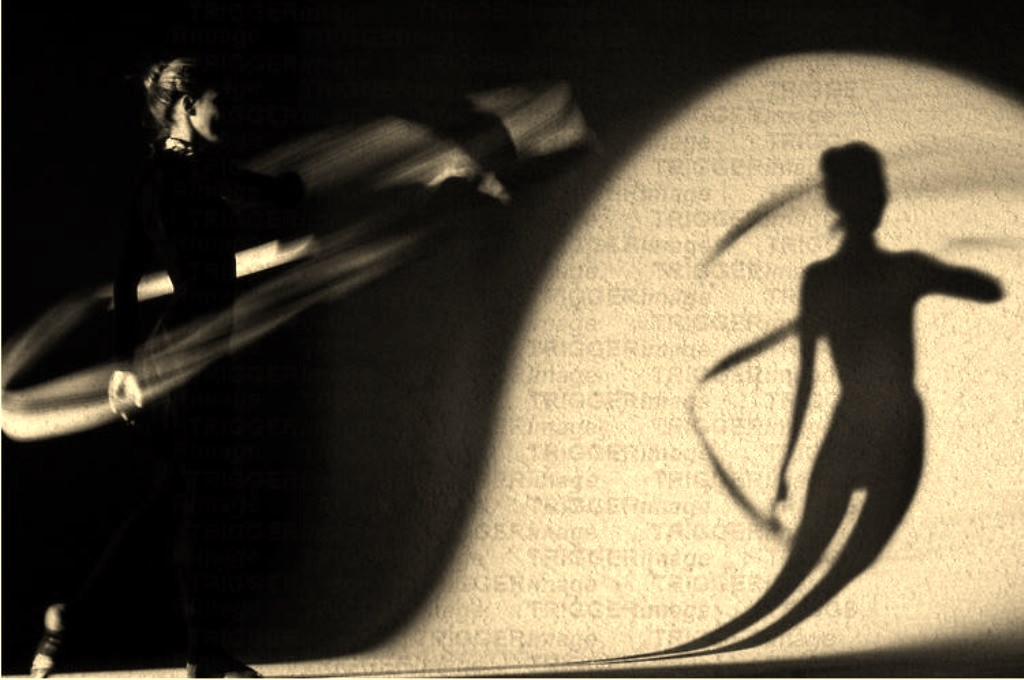 A shadow cast by a dancer. Via trigger.photoshelter