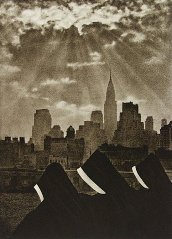 Adolf Fassbender. City thy name be blessed 1937 Via photogravure