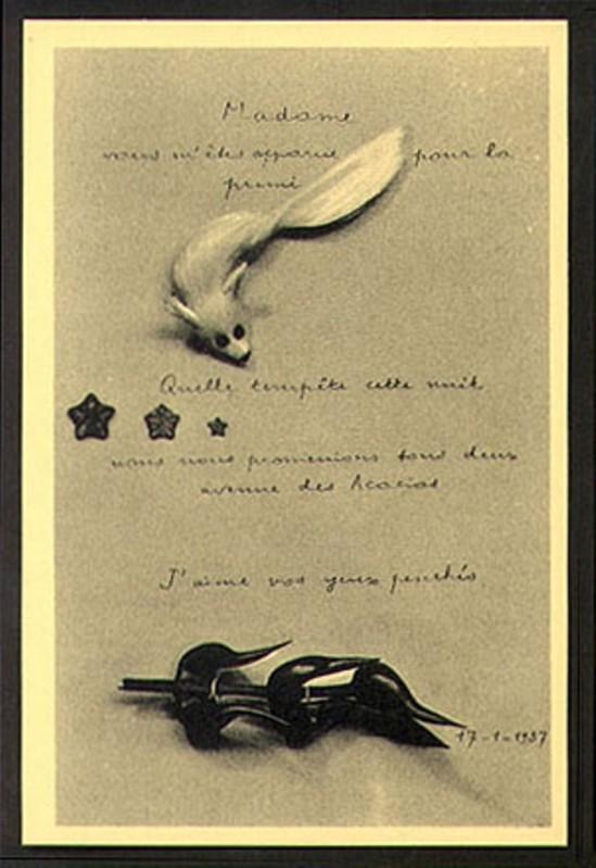 André Breton. La carte surréaliste 1937 Via vastaimages