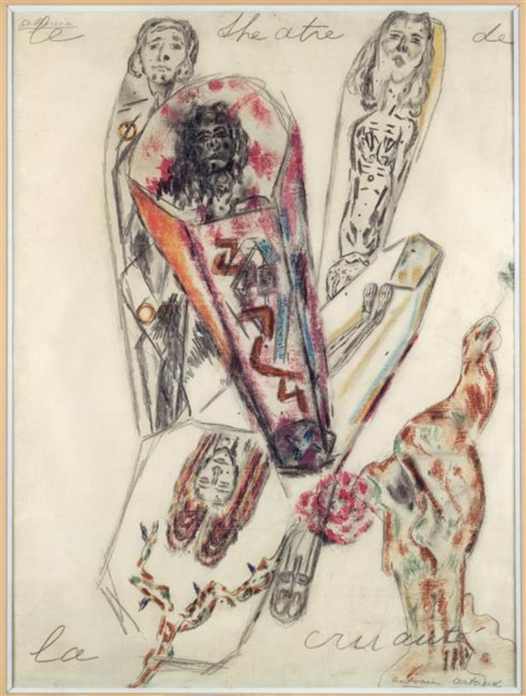 Antonin Artaud. Le théâtre de la cruauté 1946 Via RMN