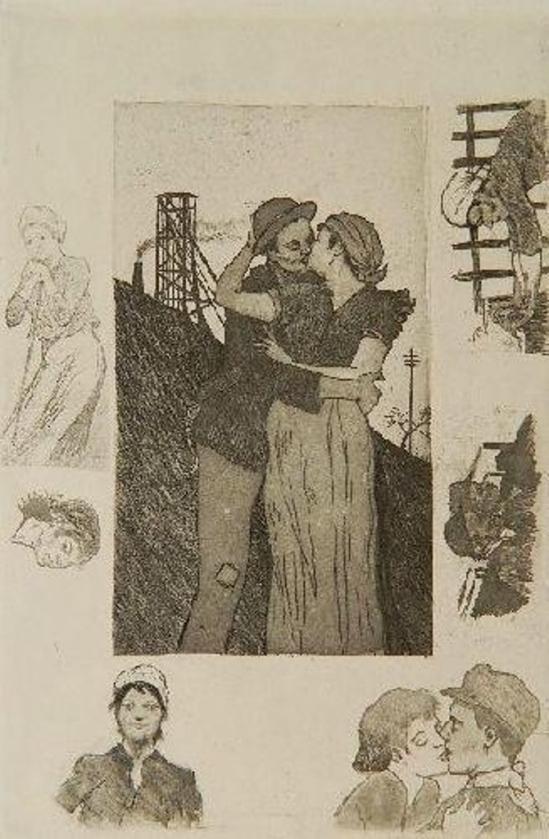 Armand Rassenfosse.Le Baiser Du Porion 1892