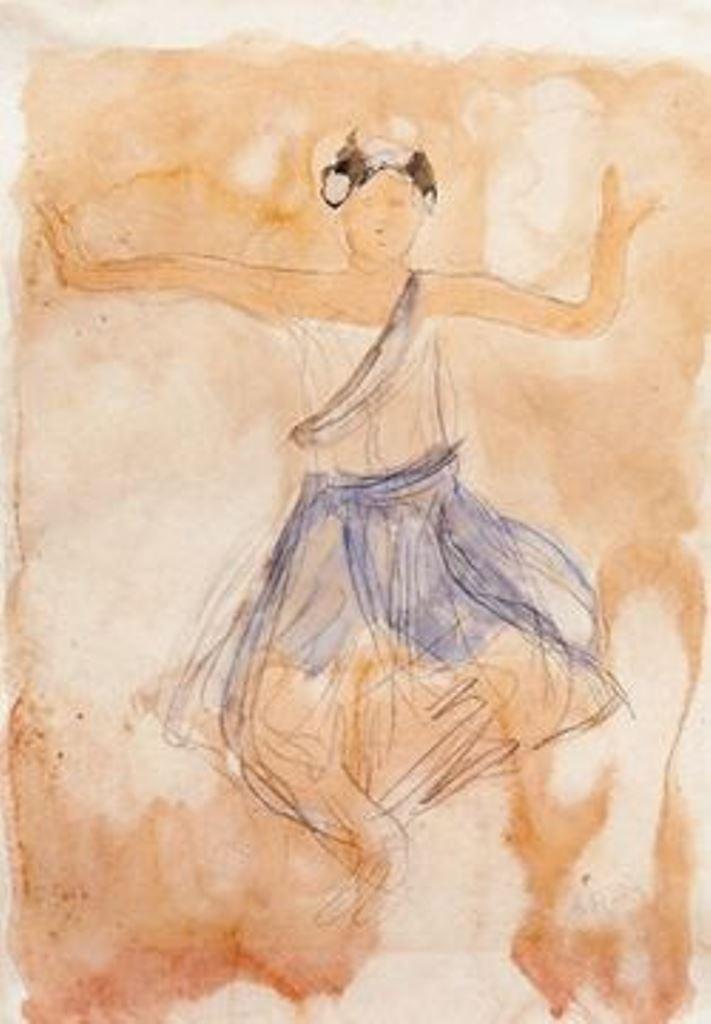 Auguste Rodin. Danseuse cambodgienne bleue  1906-1907