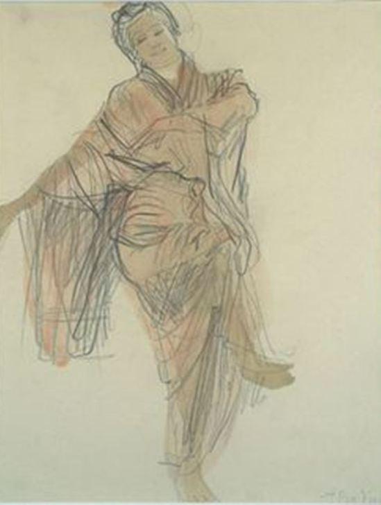 Auguste Rodin. Hanako dansant  1907