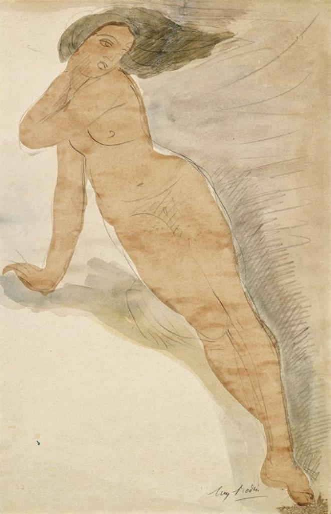 Auguste Rodin. Aquarelle