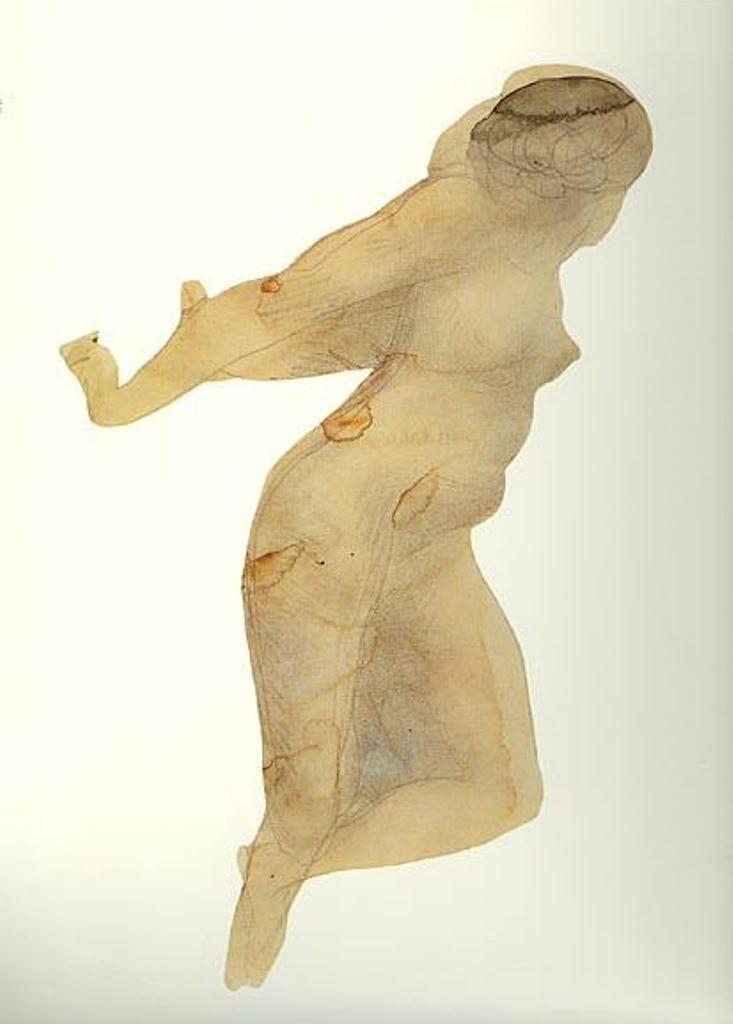 Auguste Rodin. Danseuse. Aquarelle