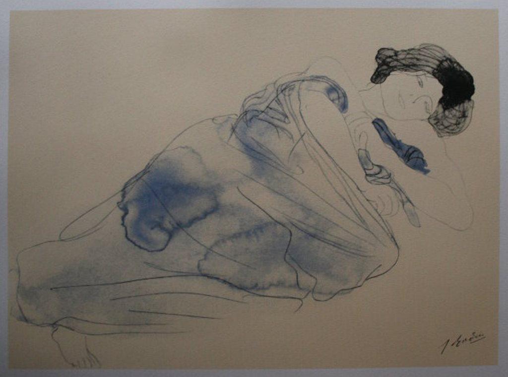 Auguste Rodin. Femme allongée