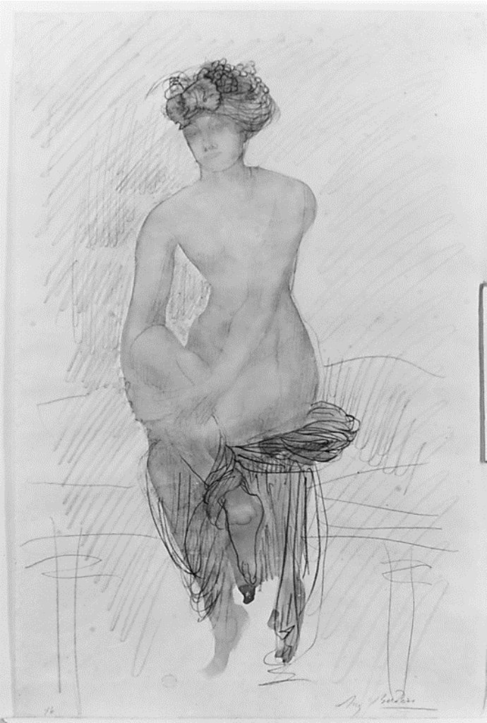 Auguste Rodin. Girl seated