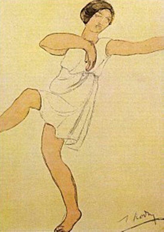 Auguste Rodin. Isadora Duncan