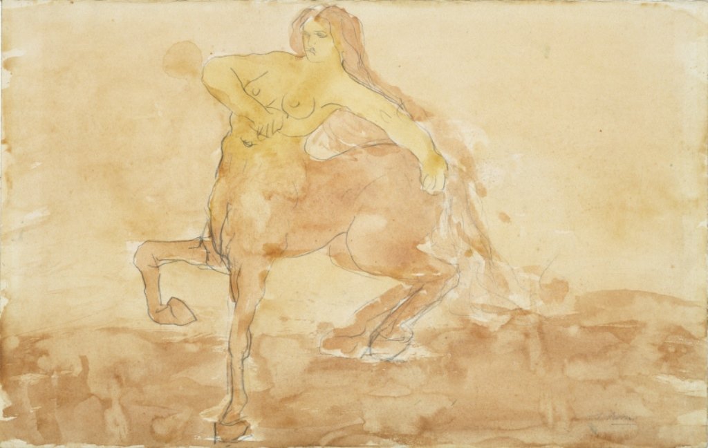 Auguste Rodin. The centauress. Aquarelle