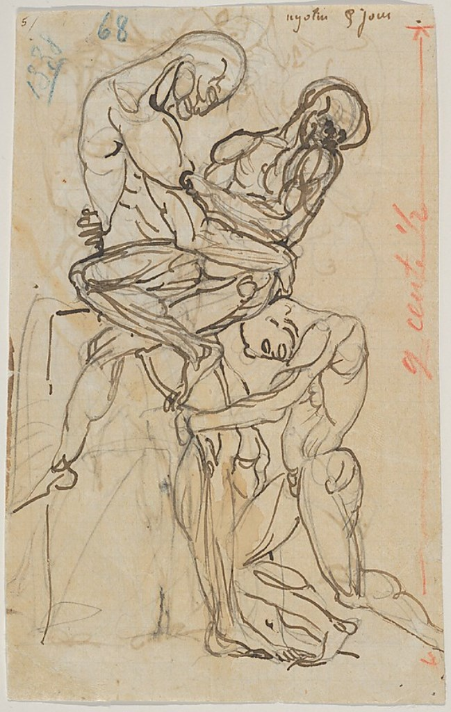 Auguste Rodin. Ugolino and his sons 1800