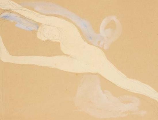 Auguste Rodin. Une danseuse faisant le grand écart