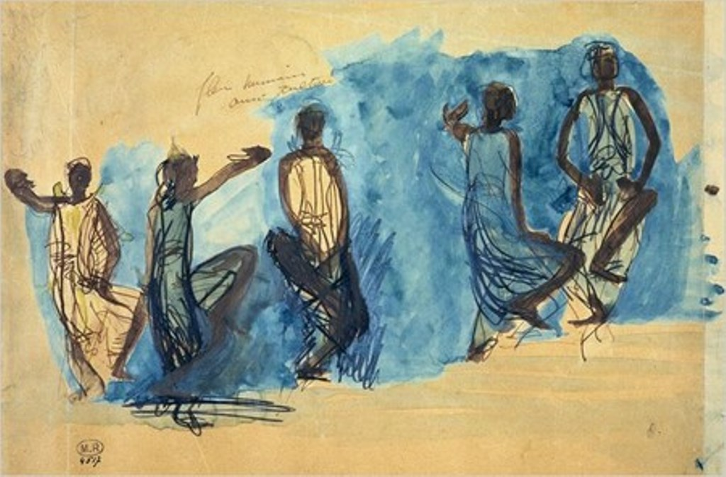 Auguste Rodin. Danseuses cambodgiennes 1906