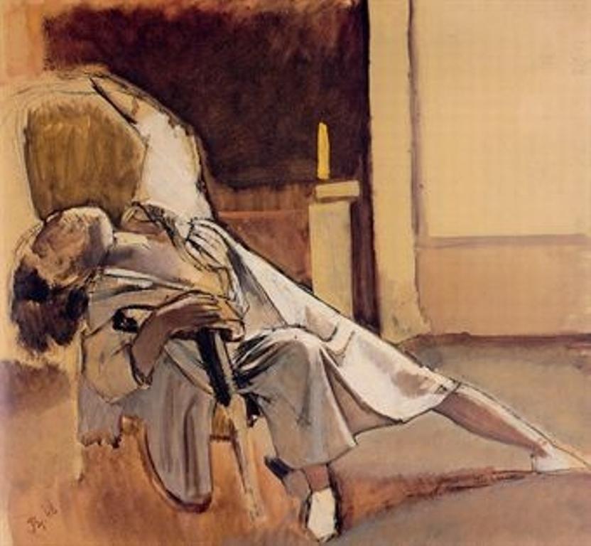 Balthus. Etude pour 'La semaine des quatre jeudis' 1948