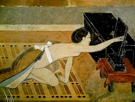 Balthus. Japanese girl with a black mirror 1967