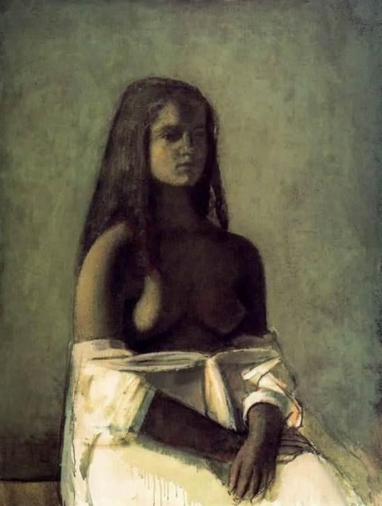 Baltus. Jeune fille en jupe blanche 1955