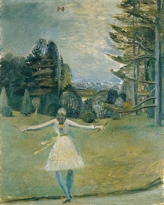 Balthus. Jeune fille jouant au diabolo 1930
