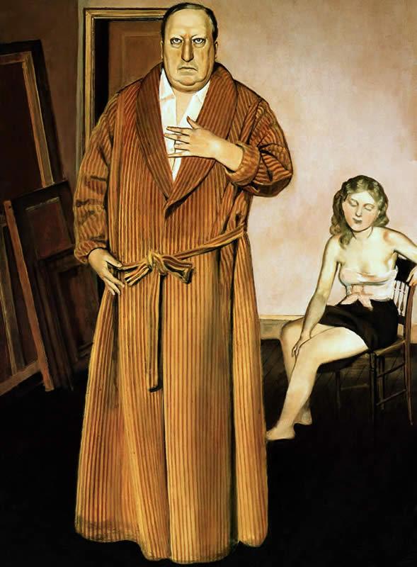 Balthus. Portrait d'André Derain 1936