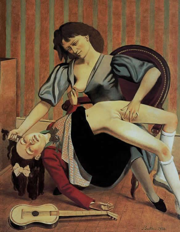 Balthus. La leçon de Guitare 1934 Le tableau le plus controversé du peintre.