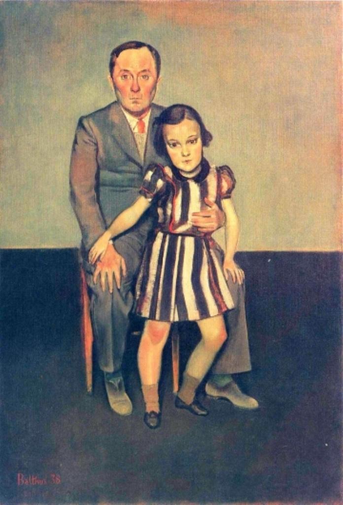 Balthus. Joan Miró et sa fille Dolores 1937