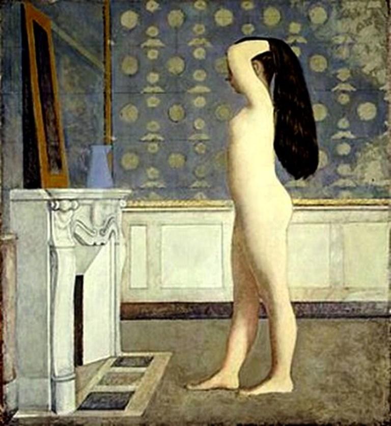 Balthus. Jeune fille au miroir 1955