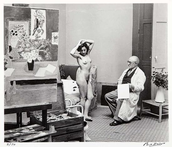 Brassaï. Matisse Avec son modèle 1939 Via mutualart