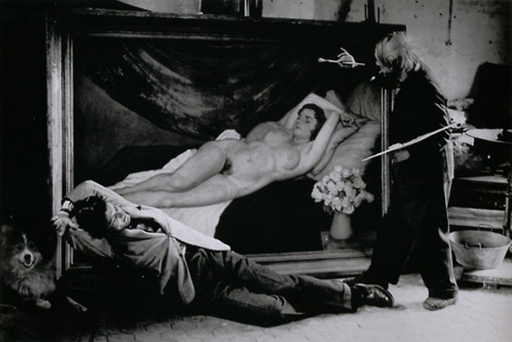 Brassaï. Picasso and Jean Marais Posing as Painter and Model 1944. Via livejournal