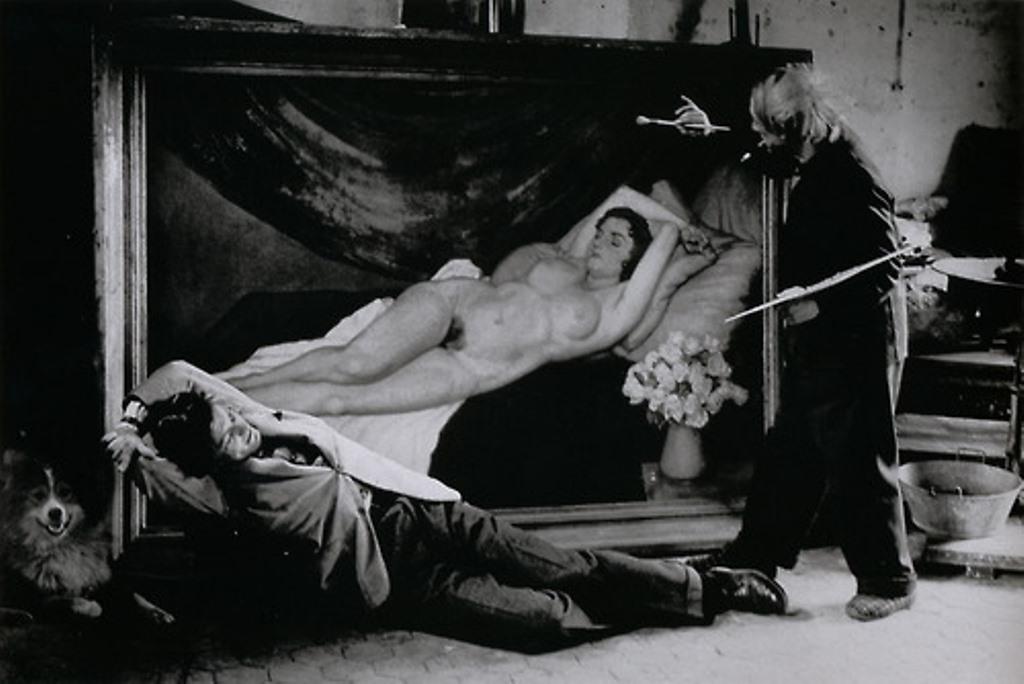 Brassaï. Picasso and Jean Marais Posing as Painter and Model 1944. Via livejournal