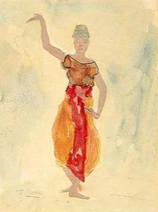 Auguste Rodin. Danseuse cambodgienne 1906