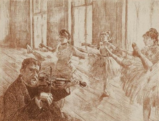 Edgar Degas. La Classe de ballet 1888