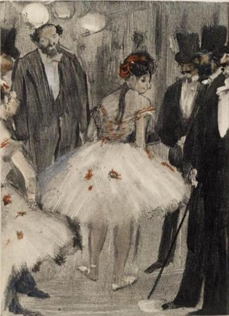 Edgar Degas. La Famille Cardinal. Monotype