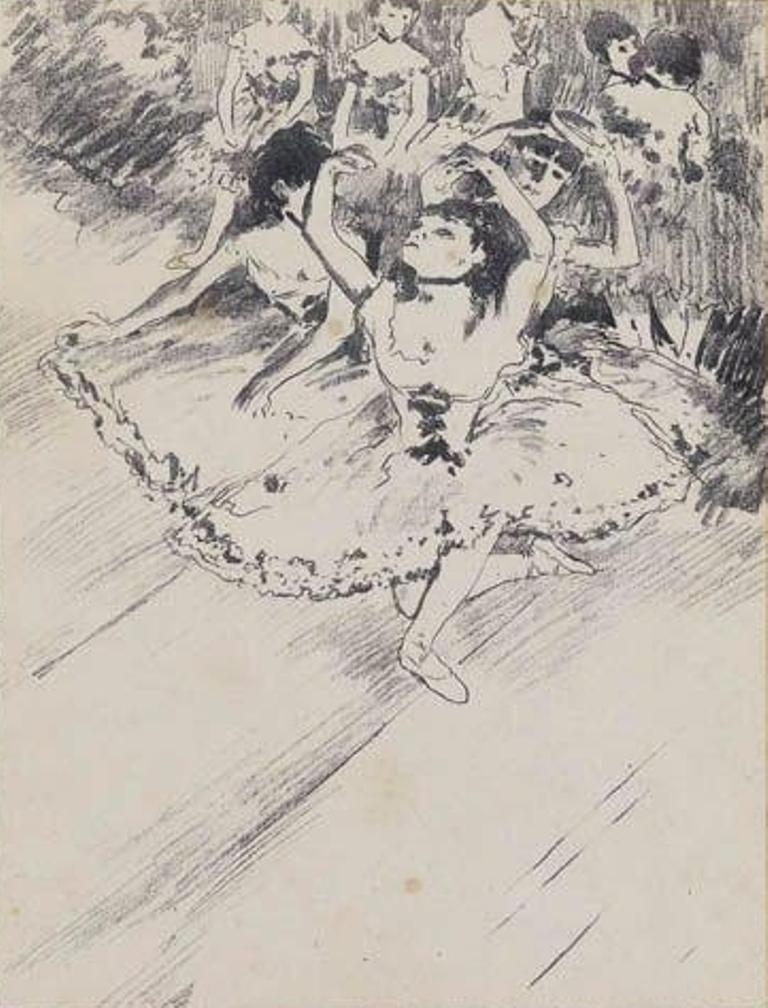 Edgar Degas. La répétition 1888.