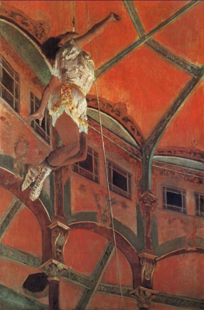 Edgar Degas. Mademoislle Lola au Cirque 1879