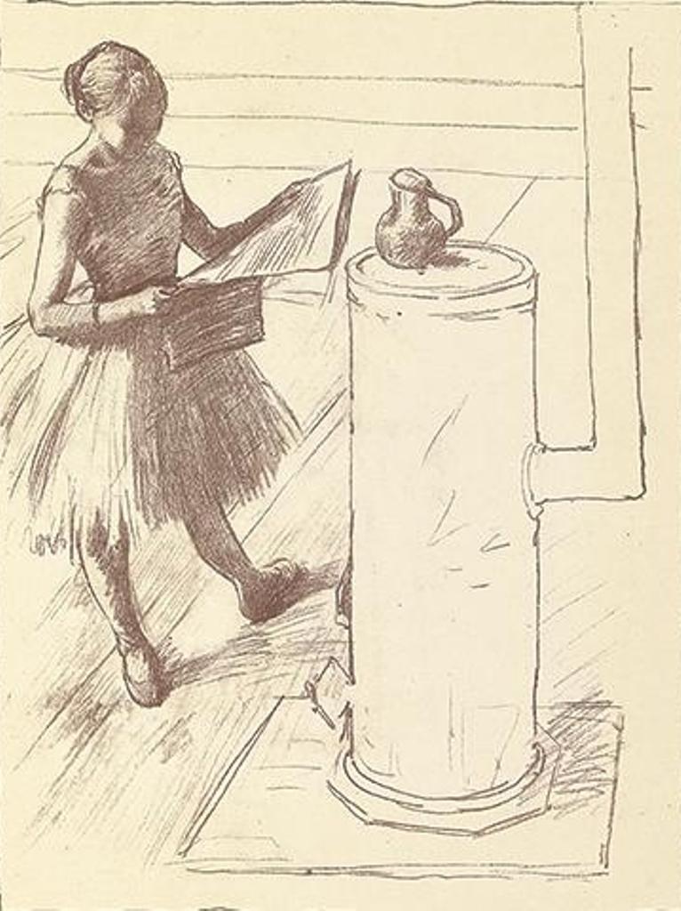 Edgard Degas. Danseuse près du poêle 1888