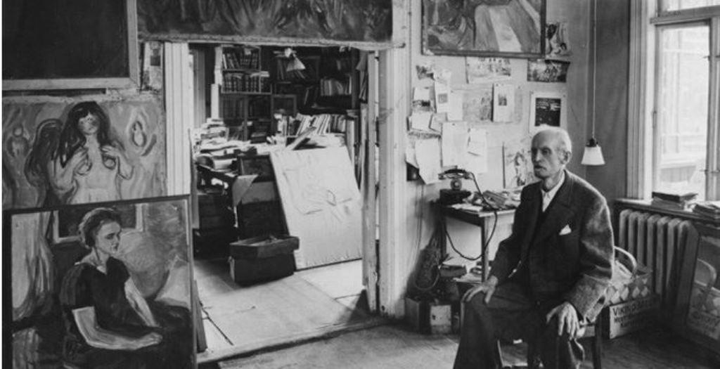 Edvard Munch dans son atelier à Oslo