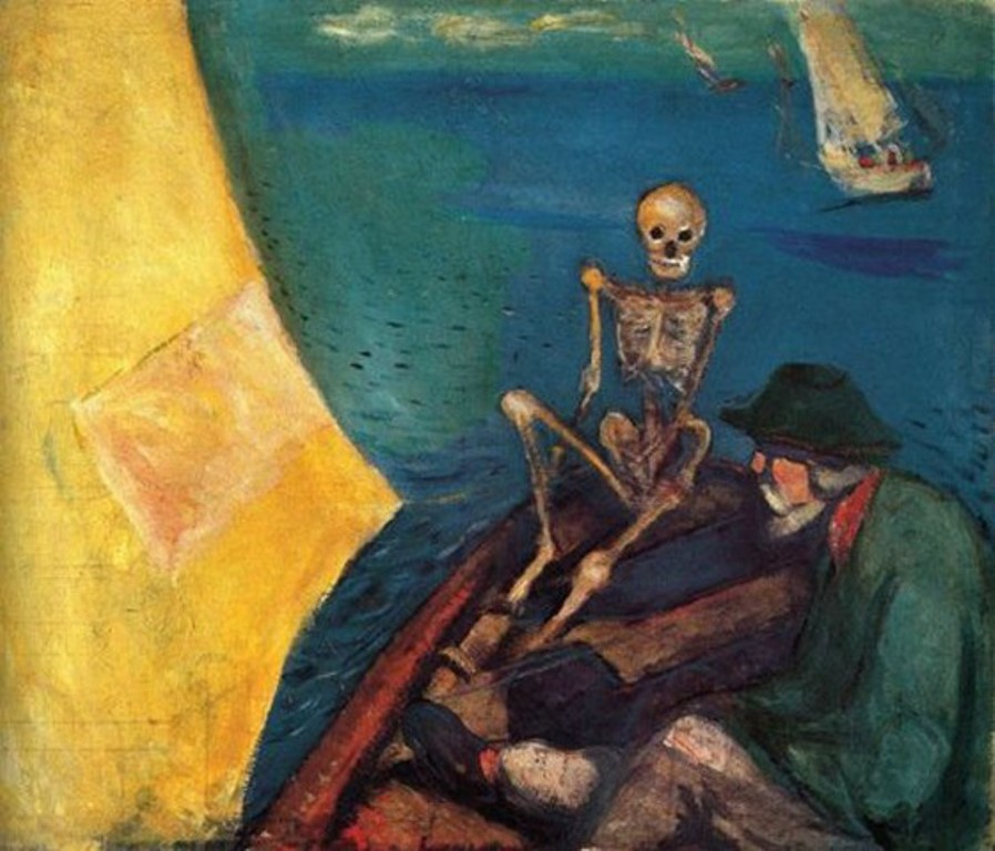 Edvard Munch. Death at the helm 1893