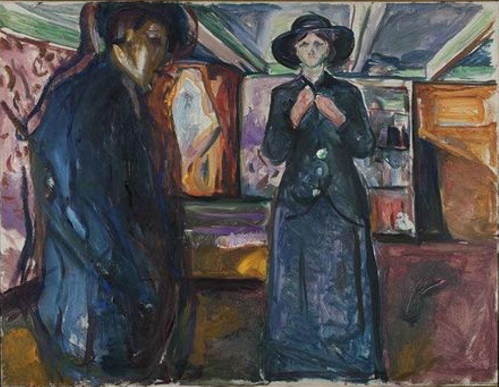 Edvard Munch. Homme et Femme - 1913-1915 - Huile sur toile