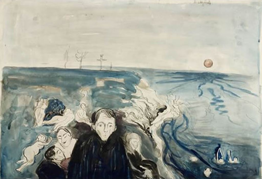Edvard Munch. La croix vide 1899-1901. Aquarelle