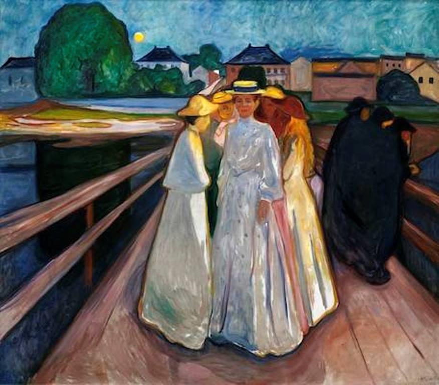 Edvard Munch . Les femmes sur le pont 1903