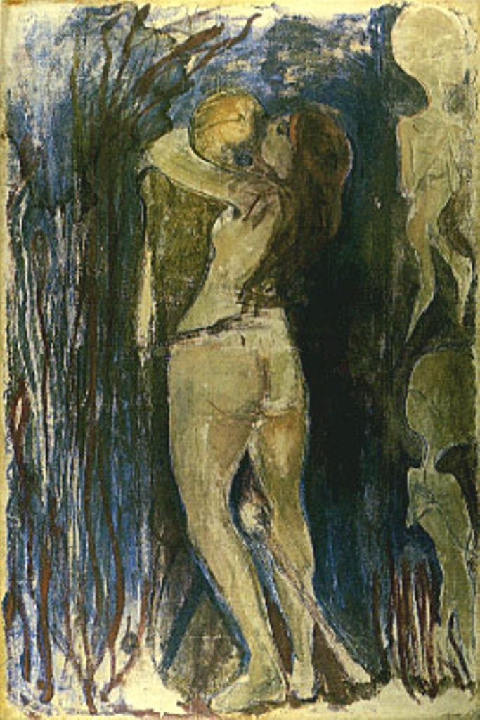 Edvard Munch. The death and the young girl