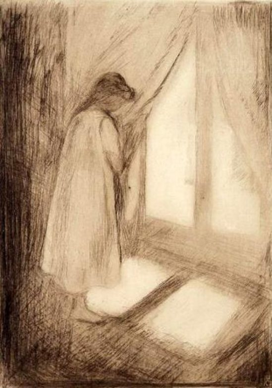 Edvard Munch. The girl at the window.1894