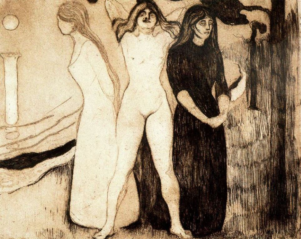 Edvard Munch. The women 1895