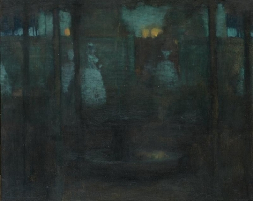 Edward Steichen. Moonlight in the Garden at Versailles 1902. Oil on canvas. Via mutualart