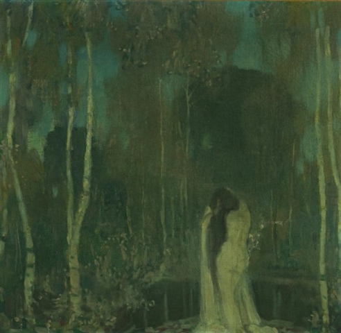 Edward Steichen. Nymphe by a lake 1898. Via mutualart