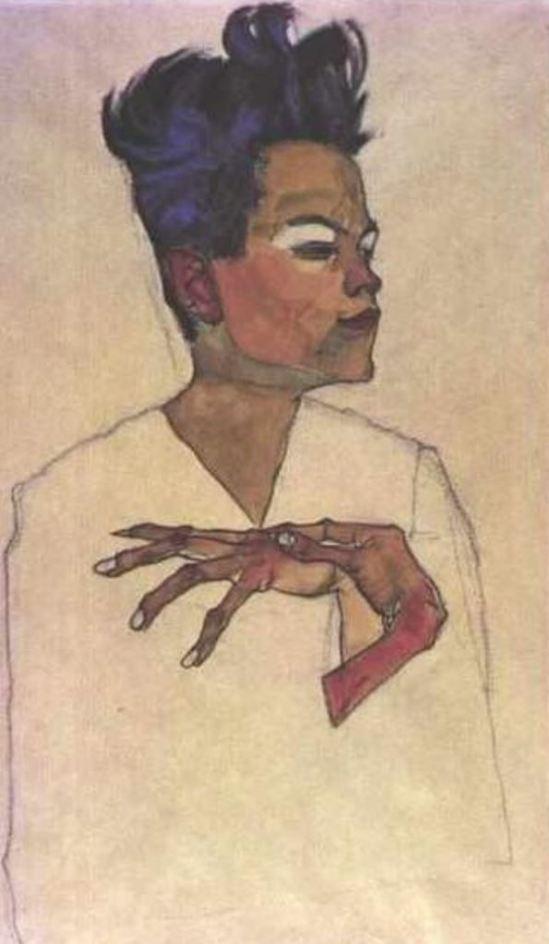Egon Schiele. Autoportrait 16