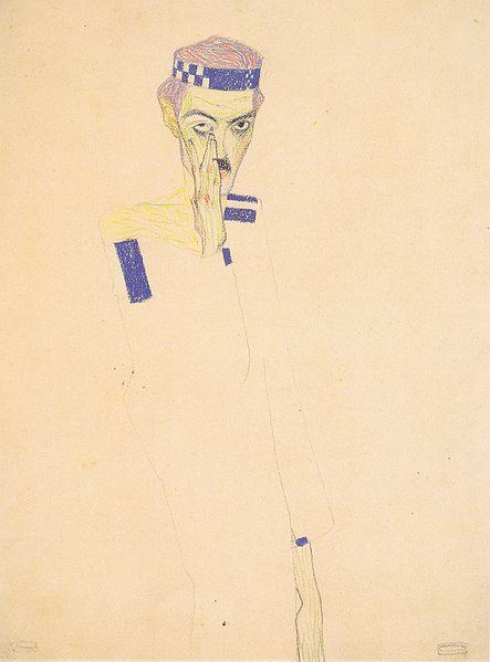 Egon Schiele. Autoportrait 1909